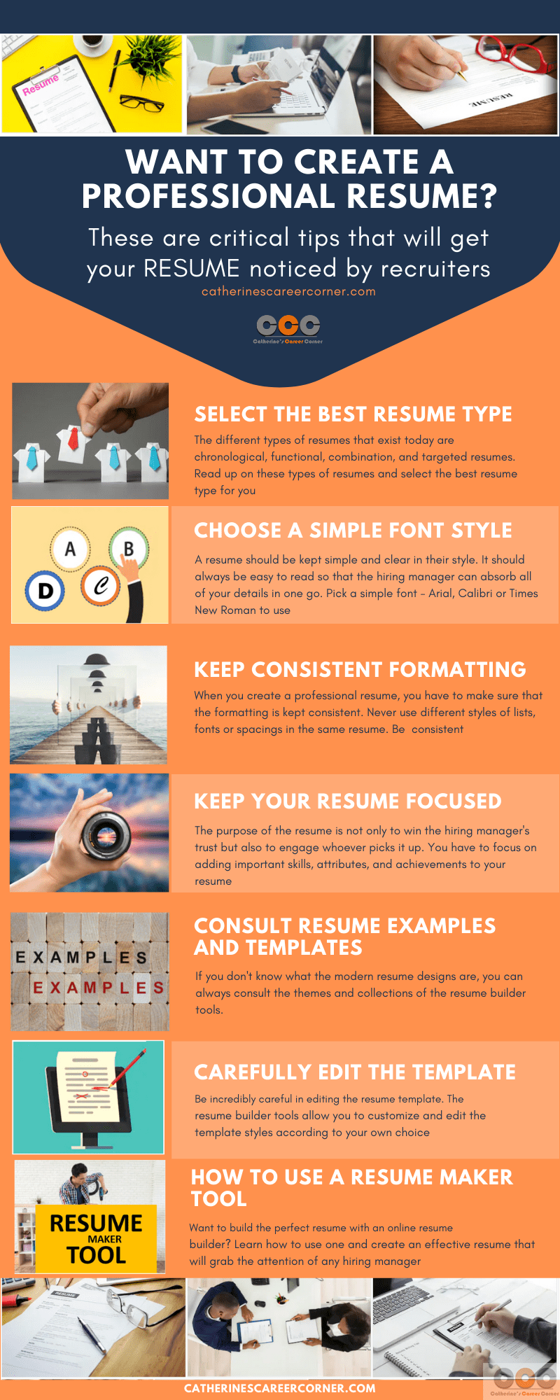 Infographic: How to create a professional resume