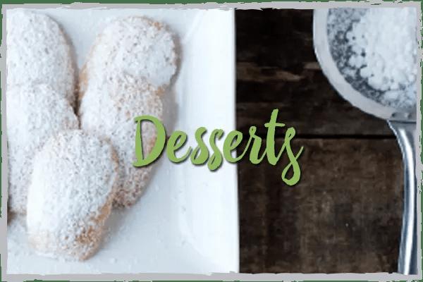 catering dessert menus
