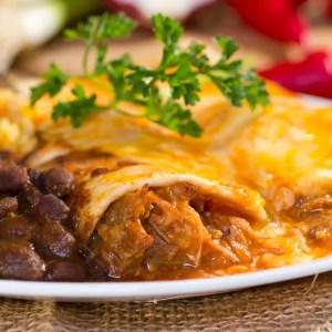 Catherine's Catering Home Delivered Menu Black Bean Enchiladas
