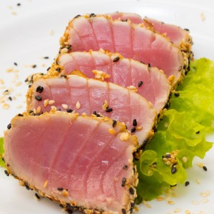 home delivered menu seared tuna