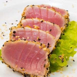 home delivered menu seared tuna
