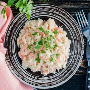 home delivered menu shrimp risotto