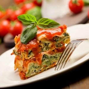 home delivered vegetarian lasagna