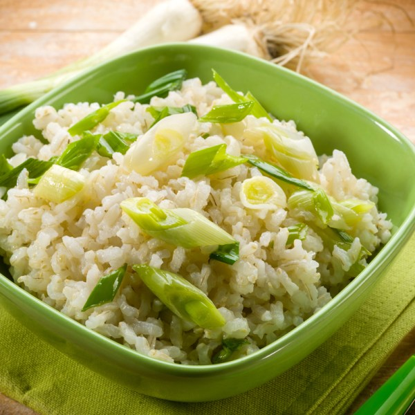 home delivered meals - risotto with leeks