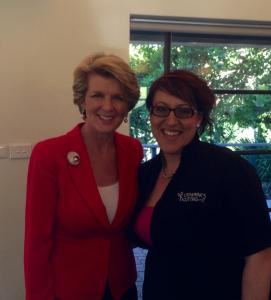 "Catherine O""Keefe meets Julie Bishop"