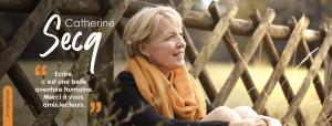 Catherine Secq, auteure de la série de romans policiers La Commissaire Bombardier
