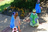 in 2011, young members of the royal court enter the Queen's Tea at the Texas Rose Festival, held the third weekend in October every year at the Tyler Municipal Rose Garden.