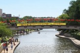 Brush Creek on the Country Club Plaza is decked out with red lanterns for the 10th annual International Dragon Boat Festival, held in Kansas City on Saturday June 14th, 2014. The Kansas City festival was founded by Mr. Robert S. Chien with the Society for Friendship with China