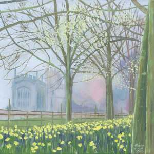 Greeting Card Landscape Hillesden Church L1