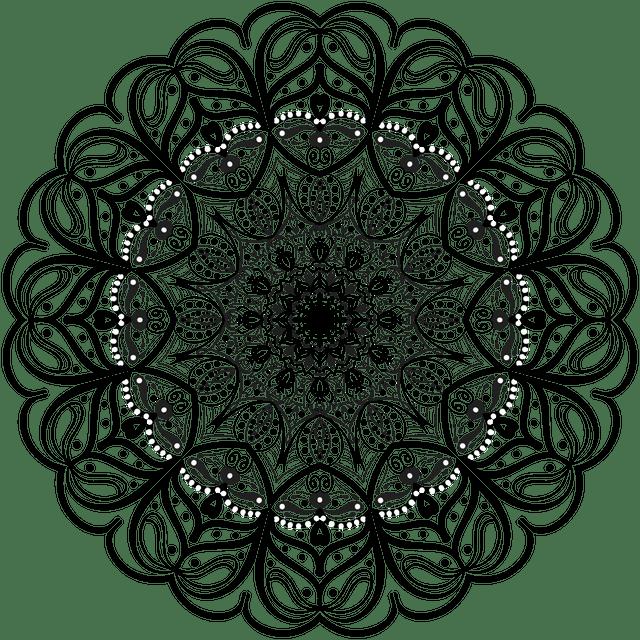 floral spirograph design