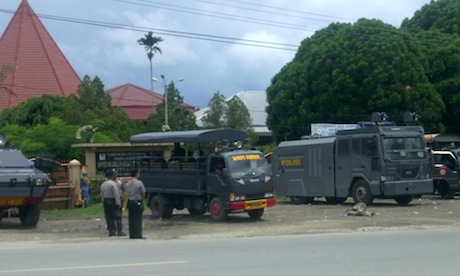 Indonesian Security Forces Detain Scores Ahead Of