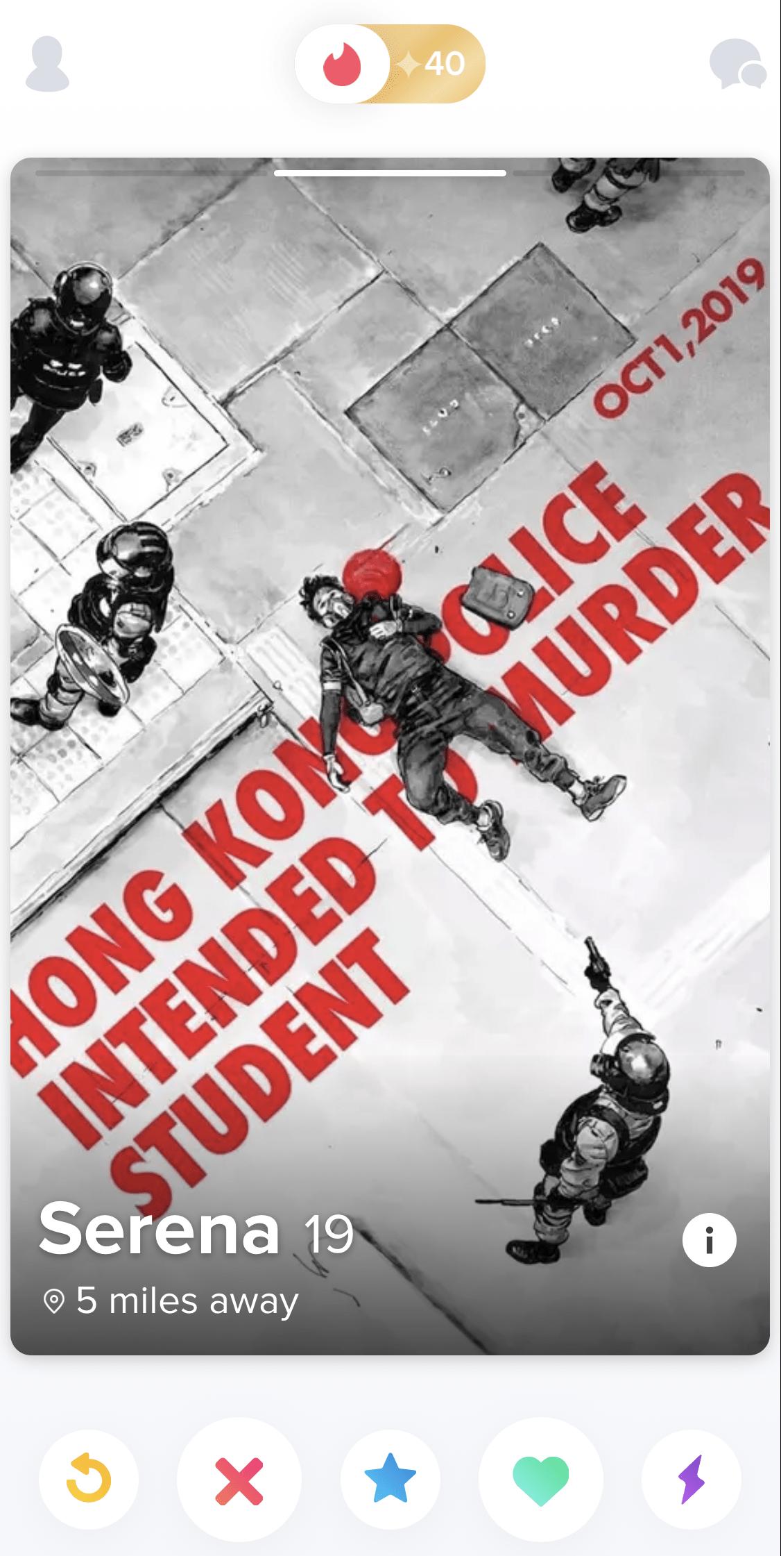 guerrilla communication - tinder - hong kong