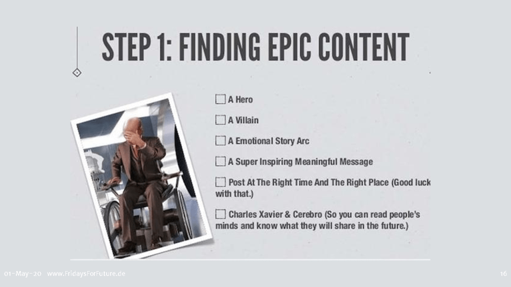 finding epic content