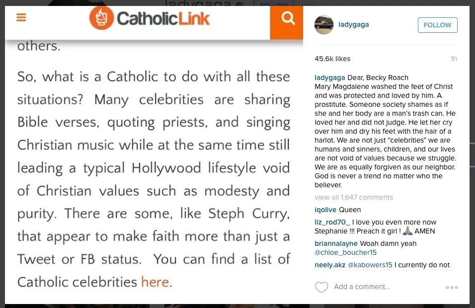 Screenshot subido por Lady Gaga a Instagram