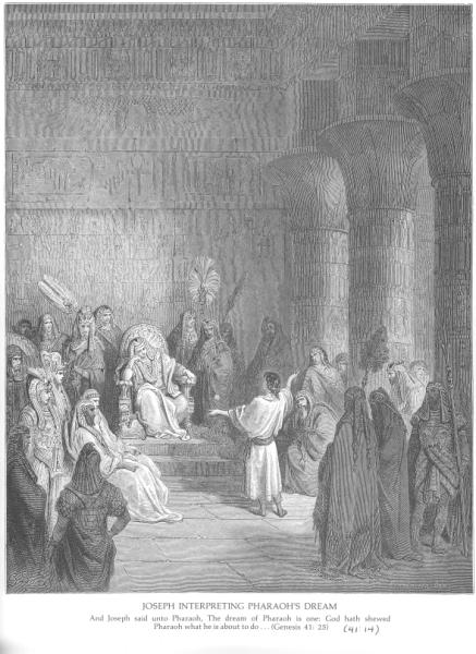 Gustave Doré, Joseph interprets Pharoah's dream