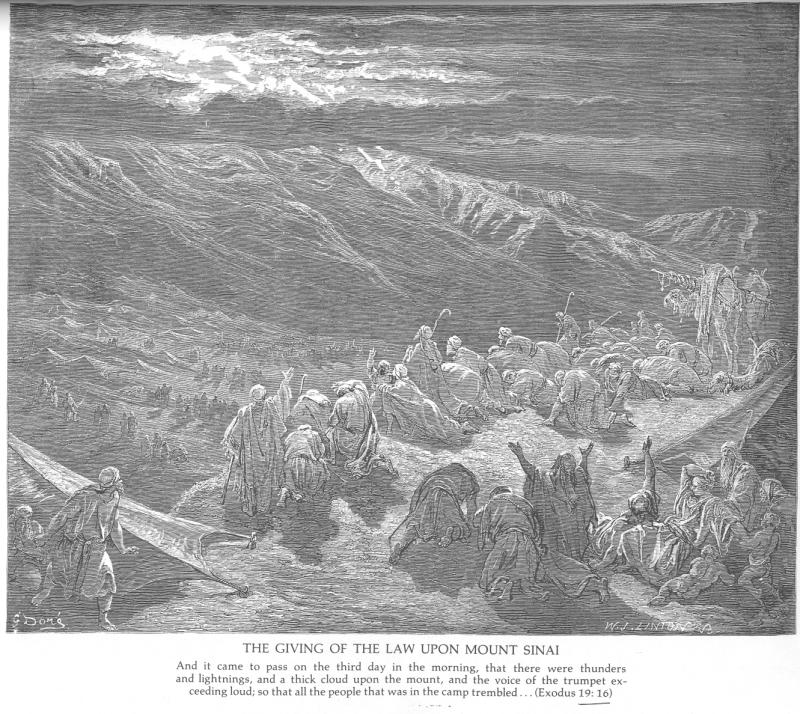 Gustave Doré, The giving of the law upon Mount Sinai
