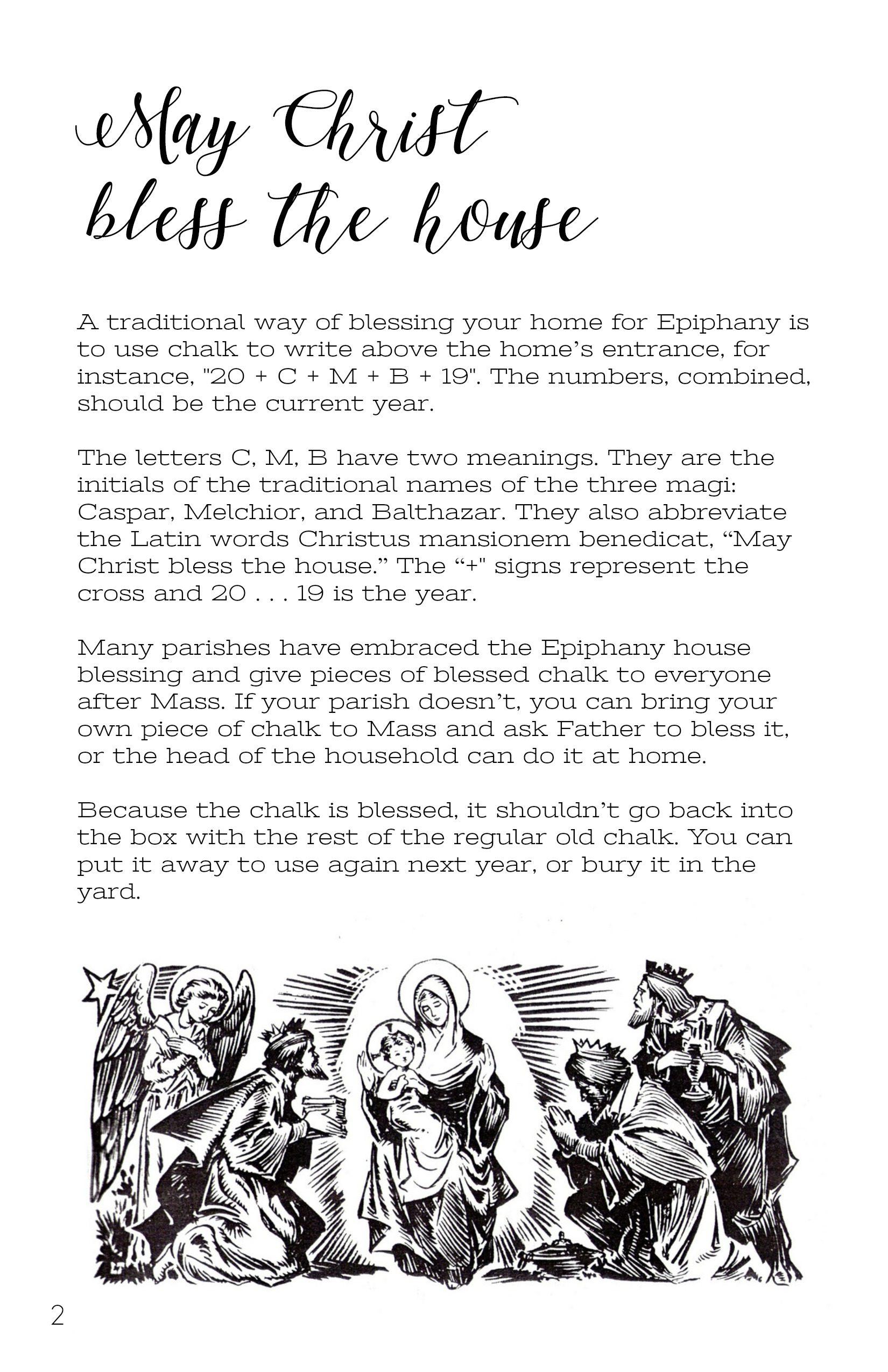 Epiphany House Blessing Printable Booklet Digital