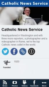 Catholic News Service app
