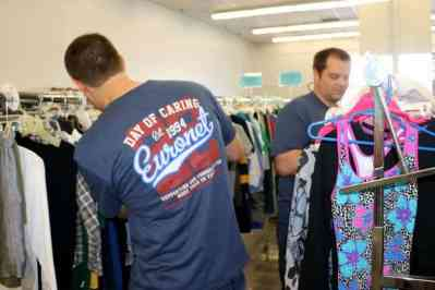 Corporate Group Volunteers at TurnStyles Thrift Store in Overland Park