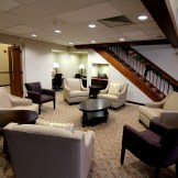Our lounge now has two computer work areas and a wireless laser printer. Hi-speed wireless Internet connectivity is available throughout the building.