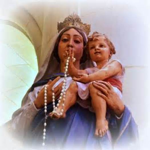 Our Lady of the Holy Rosary Statue