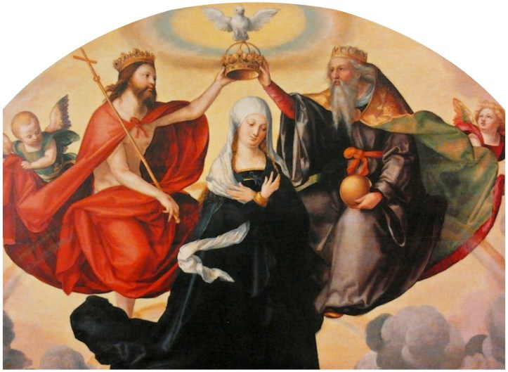 The Coronation of the Virgin Mary by Pencz Public Domain Image