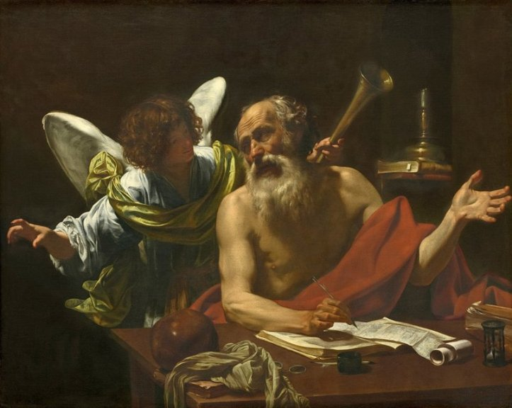 St. Jerome and the Angel by Simon Vouet Public Domain Image
