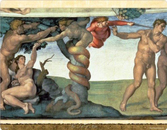 The Fall of Man Michelangelo