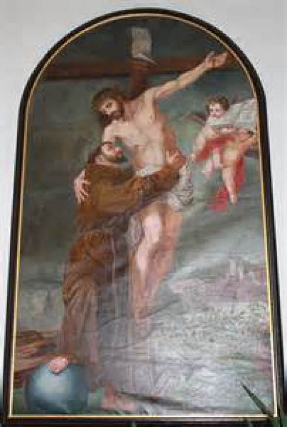 St. Francis Embracing Crucifix