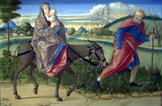 Image result for jesus flight to egypt pictures