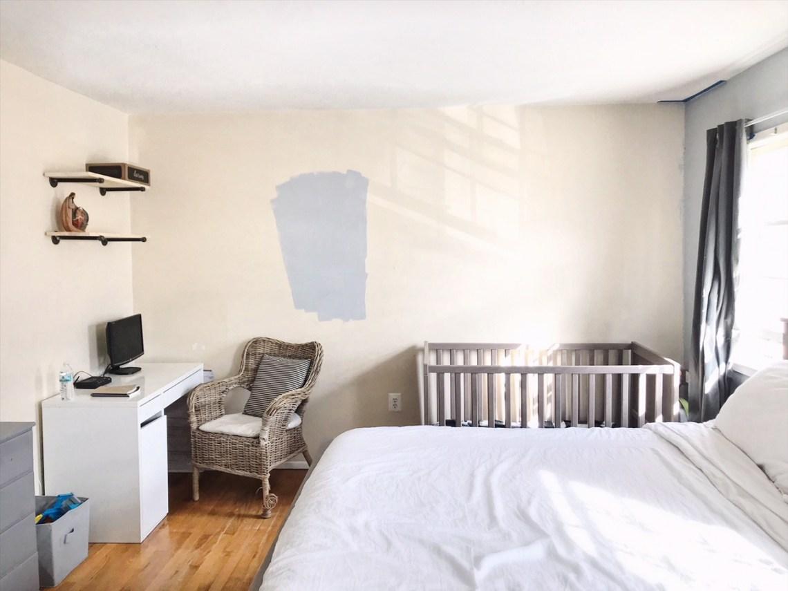 Minimalist Bedroom and shared nursery