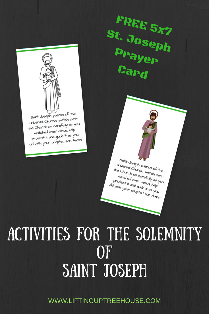 Activities for the Solemnity ofSAINT jOSEPH1