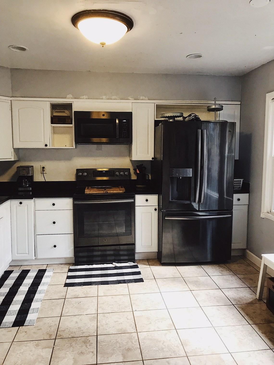 modern farmhouse kitchen on a budget