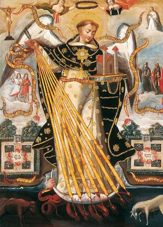Saint Thomas Aquinas, Protector of the University of Cusco (Cuzco School credits/details)