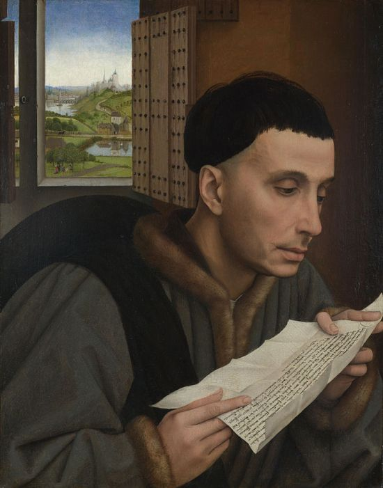 Saint Yvo (Yves, Ivo), workshop of Rogier van der Weyden (1399/1400–1464) (details)