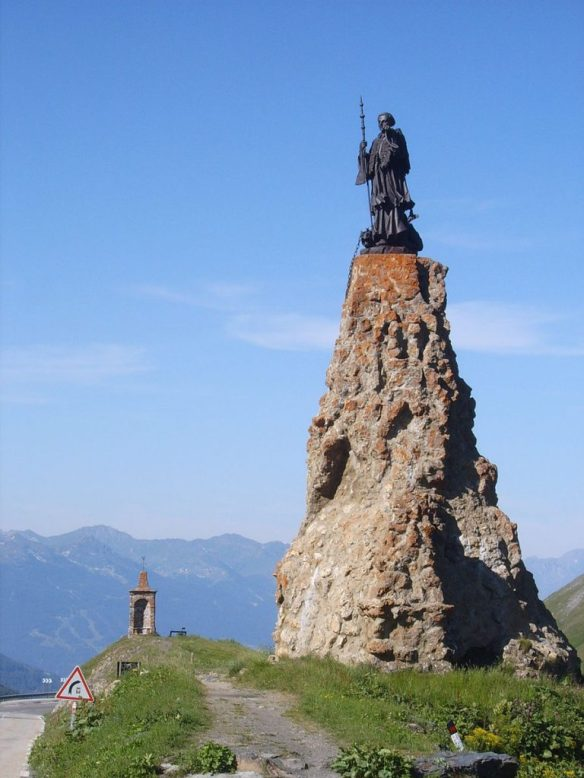 St. Bernard of Menthon, Statue at the Little Saint Bernard's Pass in the Alps
