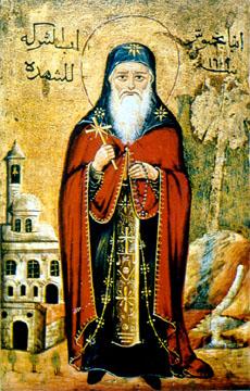 Coptic Icon of Saint Pachomius (source)