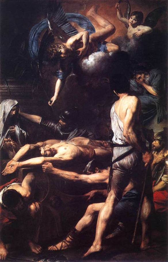 The Martyrdom of Martinian and Processus. Valentin de Boulogne, 1629 (source)