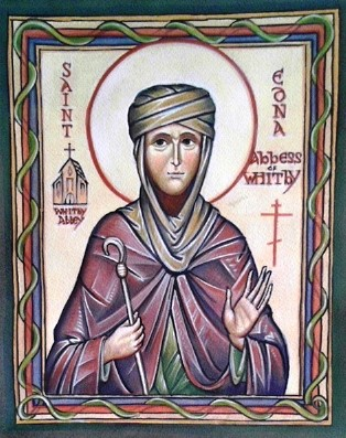 Saint Edna of Whitby, icon by David Clayton (source)
