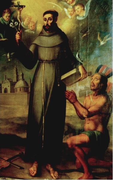 Saint Francis Solano, attributed to Pedro Diaz, Museo Nacional de Peru, Lima (source)
