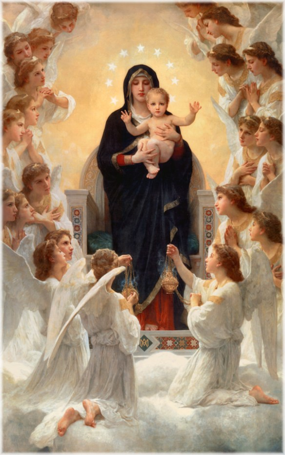 The Virgin with Angels, William-Adolphe Bouguereau, 1900