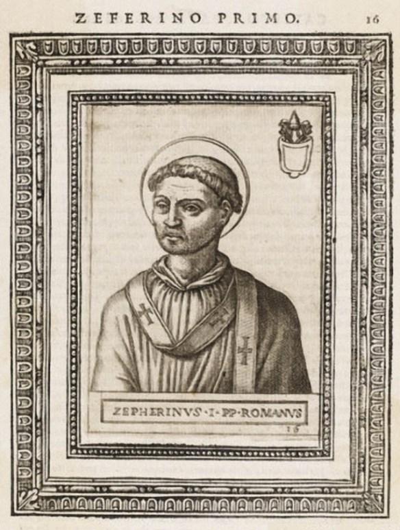 Pope Saint Zephyrinus (source)