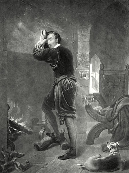 Nineteenth-century engraving by William Barraud depicting the Earl of Arundel in the Tower of London (source)