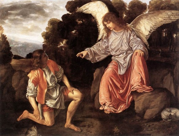Tobias and the Angel Raphael by Giovanni Girolamo Savoldo