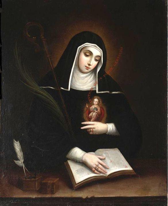 Saint Gertrude, by Miguel Cabrera (1695–1768) source