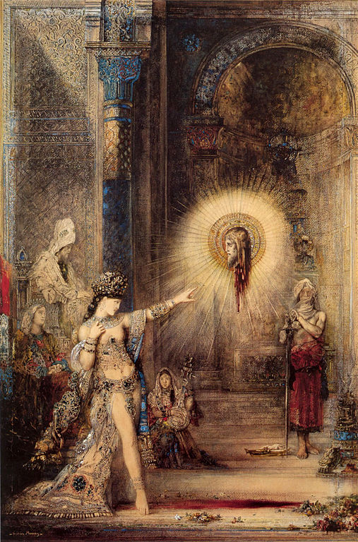 Salome and the Apparition of the Baptist's Head, watercolor by Gustave Moreau (source)