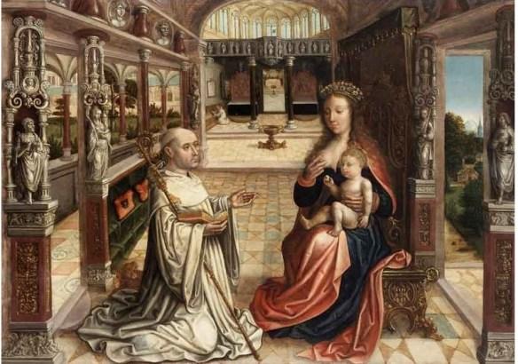 Uknown Ghentish Master, Lactation of St. Bernard Belgian, c. 1525-1540 Ghent, Museum voor Shone Kunsten