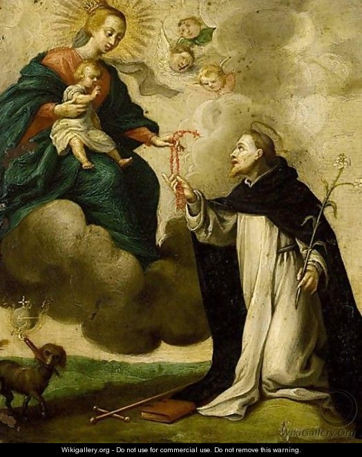 Saint Dominic Receives the Rosary, Flemish School