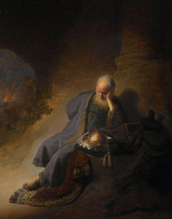 Jeremiah Lamenting the Destruction of Jerusalem, Rembrandt Harmensz van Rijn, 1630