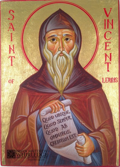 Saint Vincent of Lerins (icon written by Brian Whirledge)